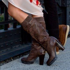 Frye Mimi Scrunch Leather boots